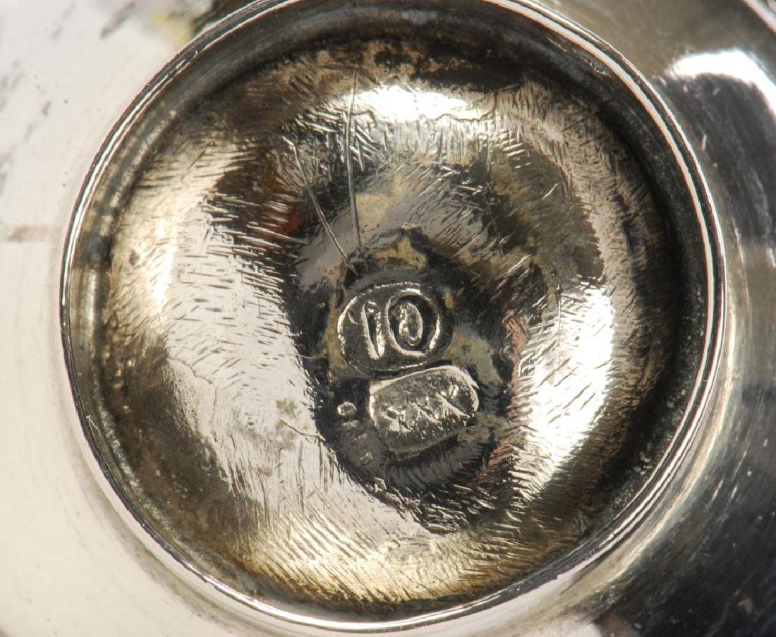 MINIATURE STERLING SILVER HOT WATER POT ON STAND - 3