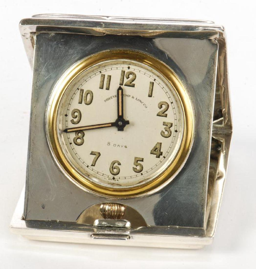 SHREVE CRUMP AND LOW TRAVEL CLOCK