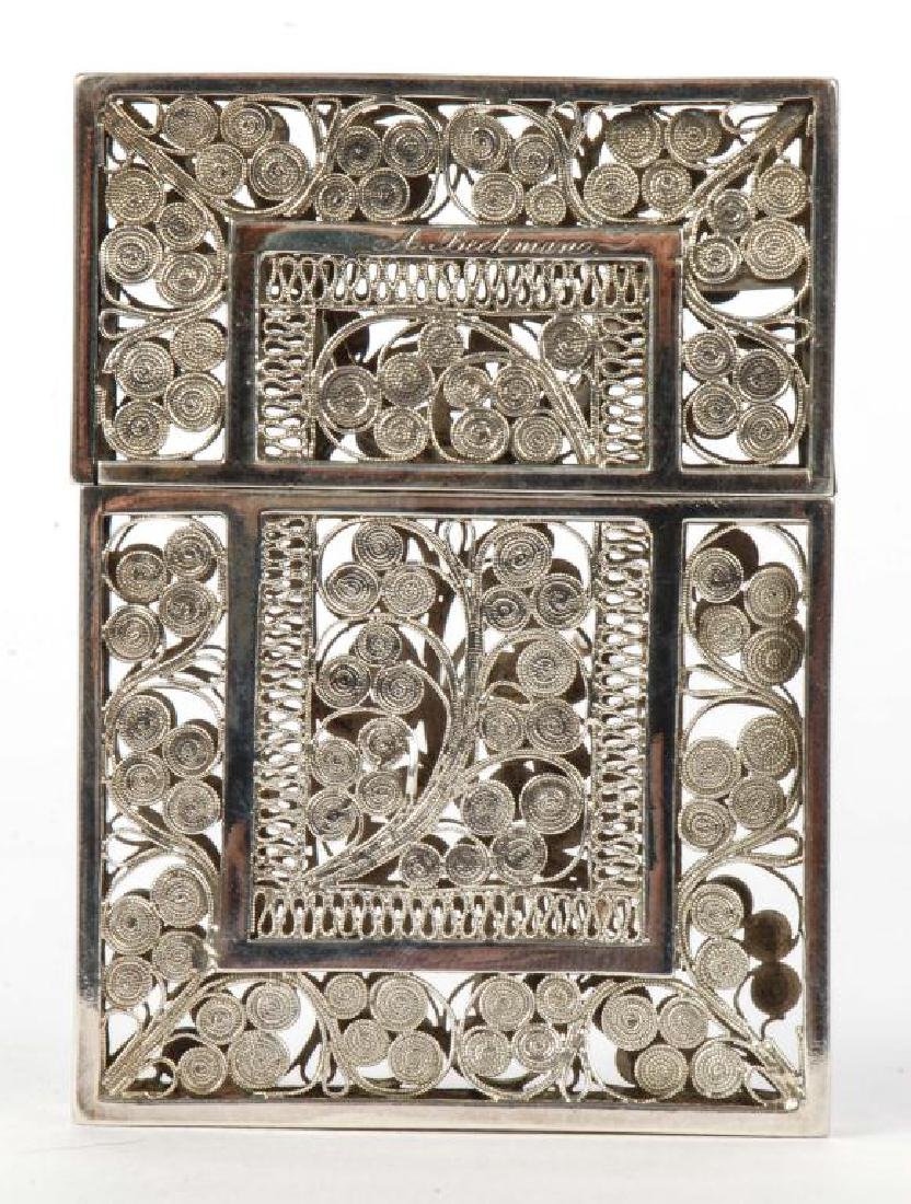 STERLING SILVER CALLING CARD CASE - 2