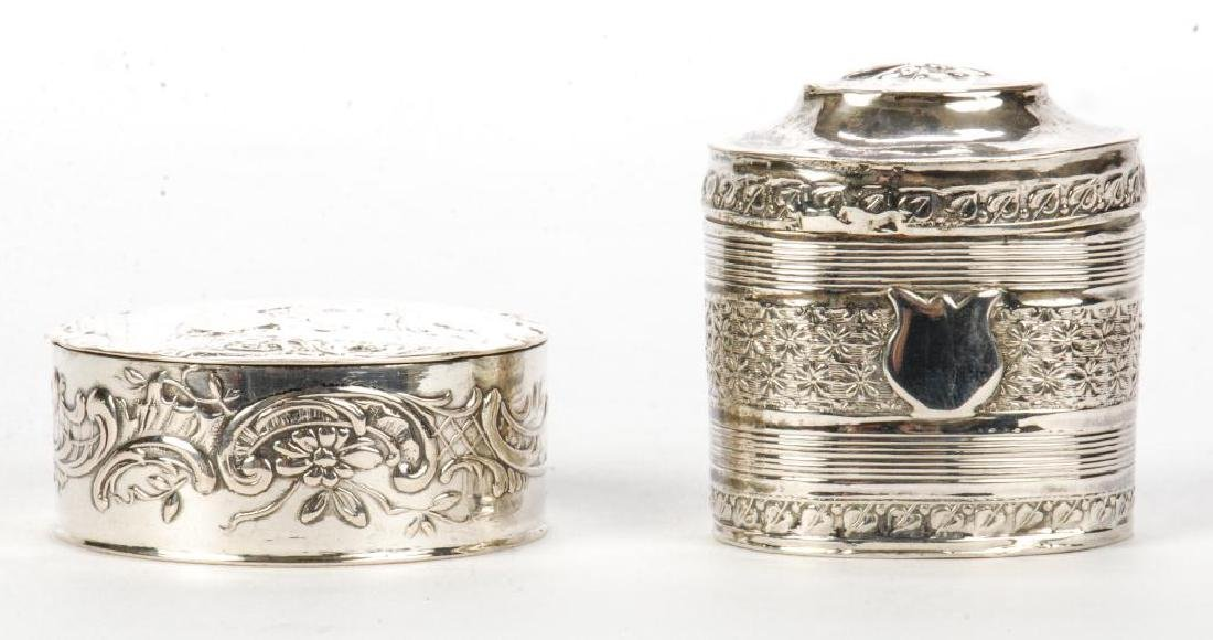 (2) STERLING SILVER HINGED PILL BOXES