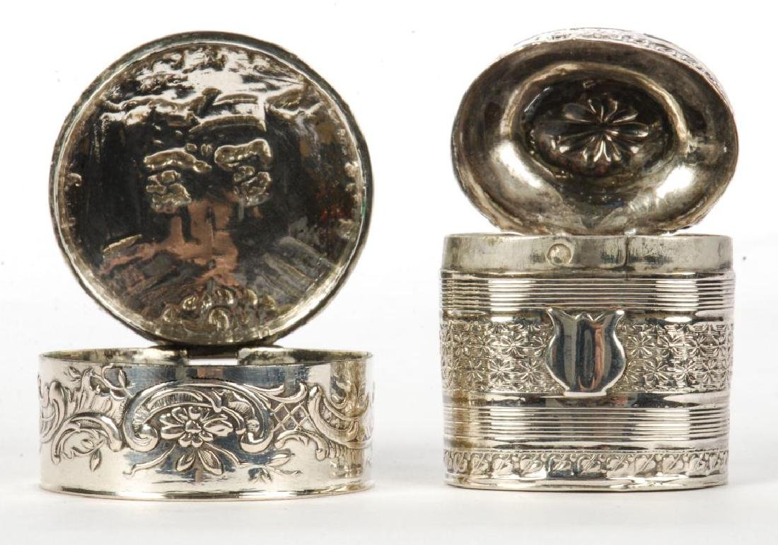 (2) STERLING SILVER HINGED PILL BOXES - 4