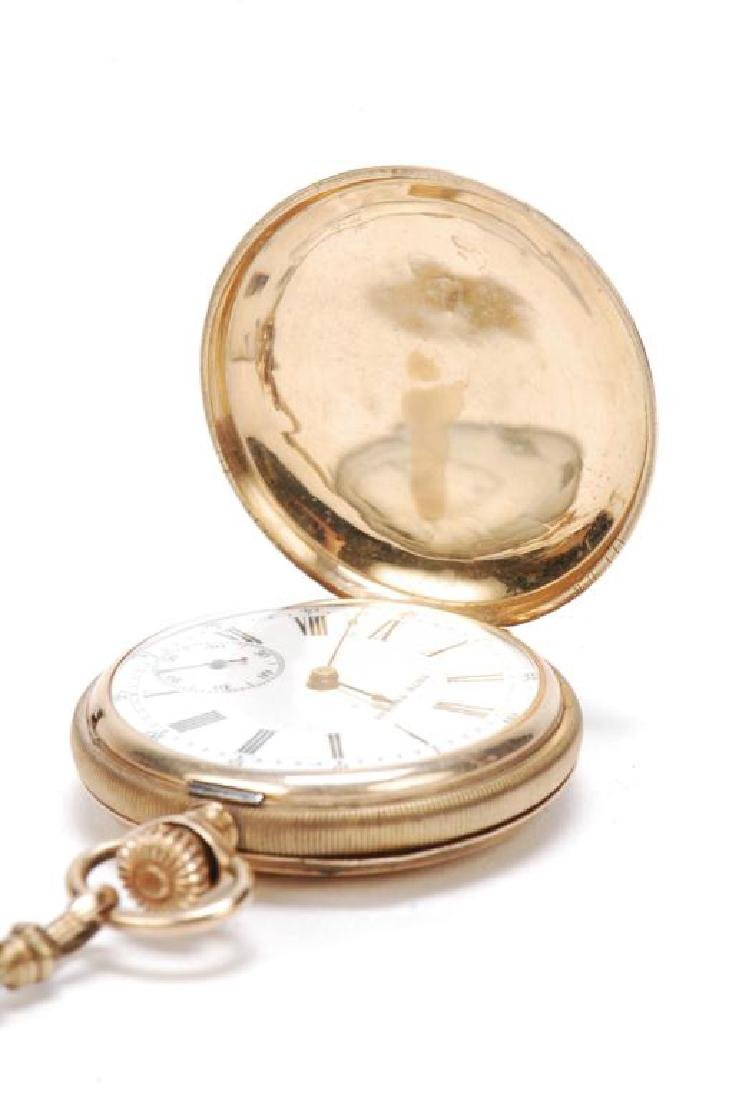 GOLD SETH THOMAS LADIES PENDENT WATCH - 2