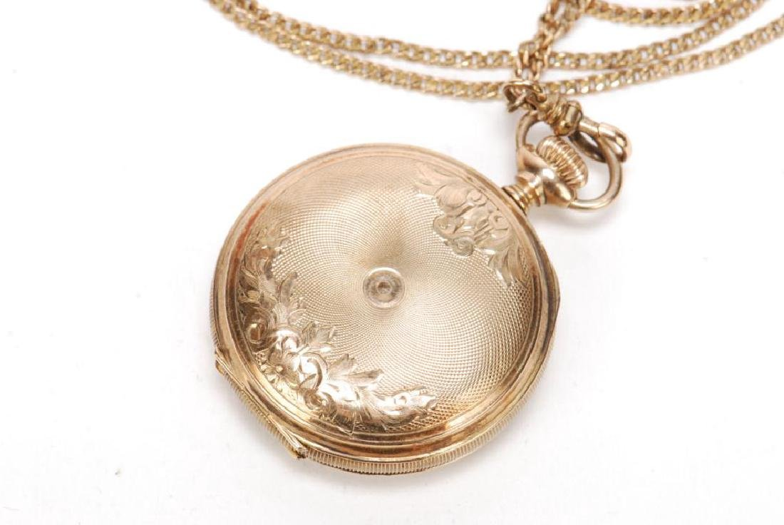 GOLD SETH THOMAS LADIES PENDENT WATCH - 5