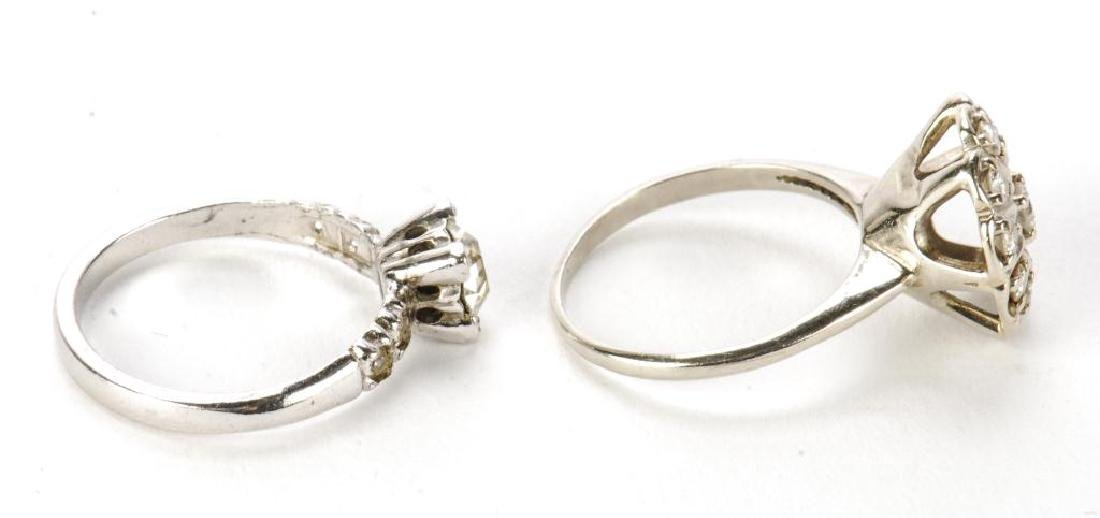 10k GOLD COCKTAIL RING & STERLING ENGAGEMENT RING - 2