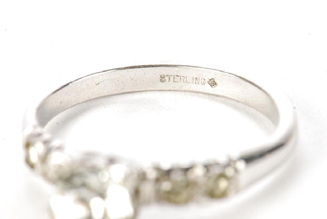 10k GOLD COCKTAIL RING & STERLING ENGAGEMENT RING - 3