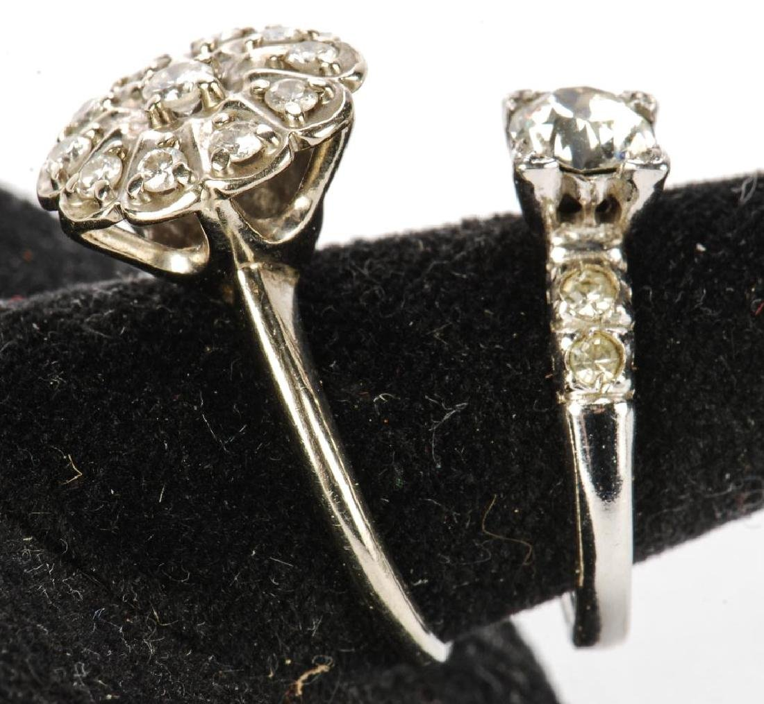 10k GOLD COCKTAIL RING & STERLING ENGAGEMENT RING - 4