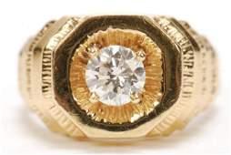 1 CARAT MEN'S DIAMOND 14k GOLD RING
