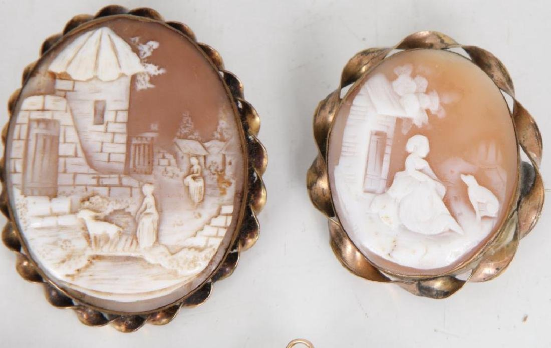 (6) ANTIQUE CAMEO BROOCHES - 2