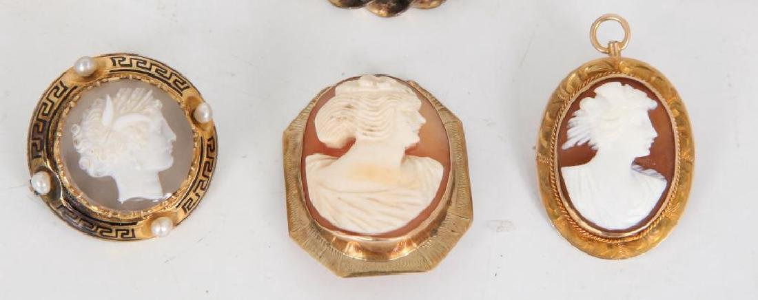 (6) ANTIQUE CAMEO BROOCHES - 4