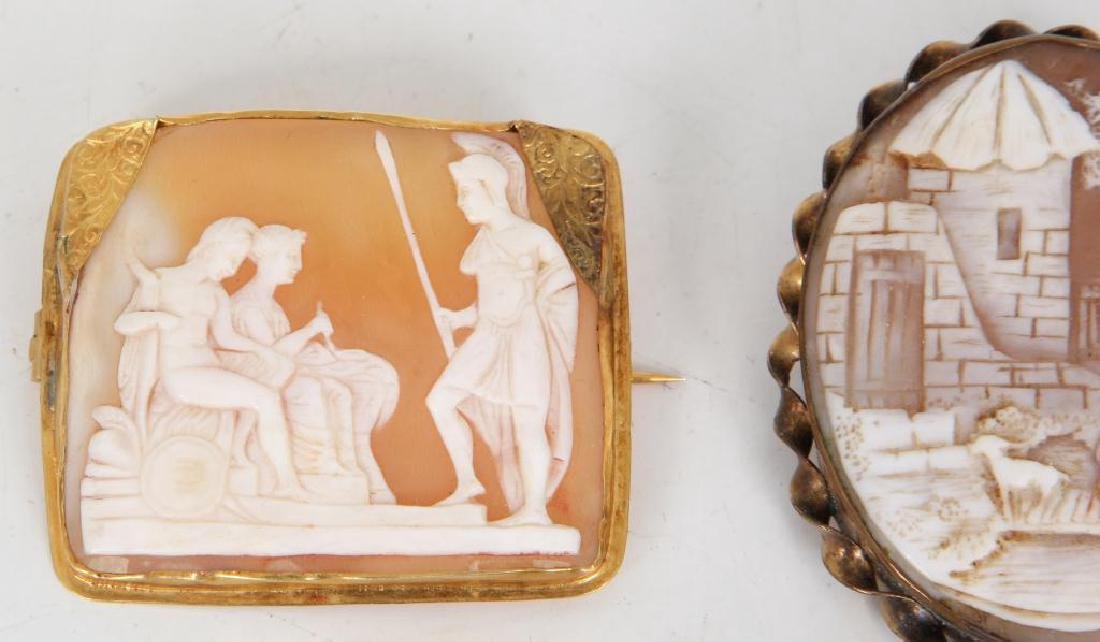 (6) ANTIQUE CAMEO BROOCHES - 5