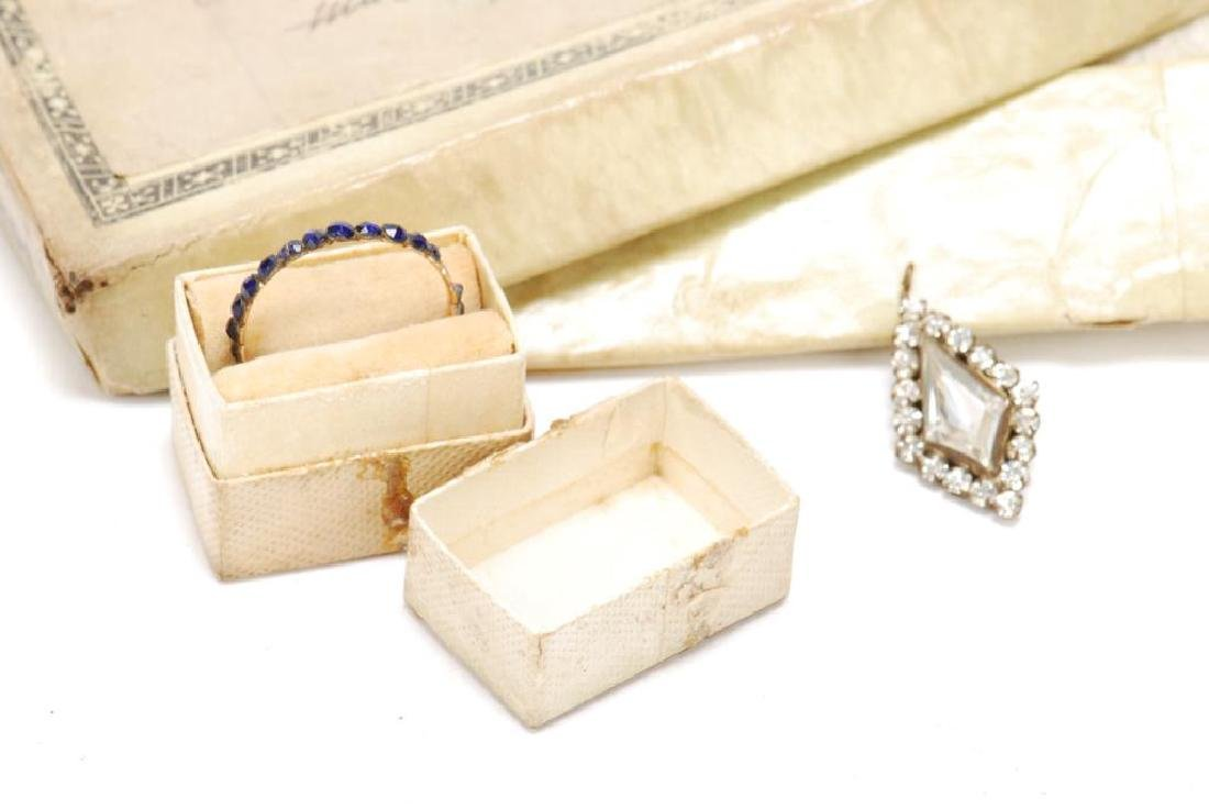 (18th) CENTURY EARRINGS, PENDENT AND RING