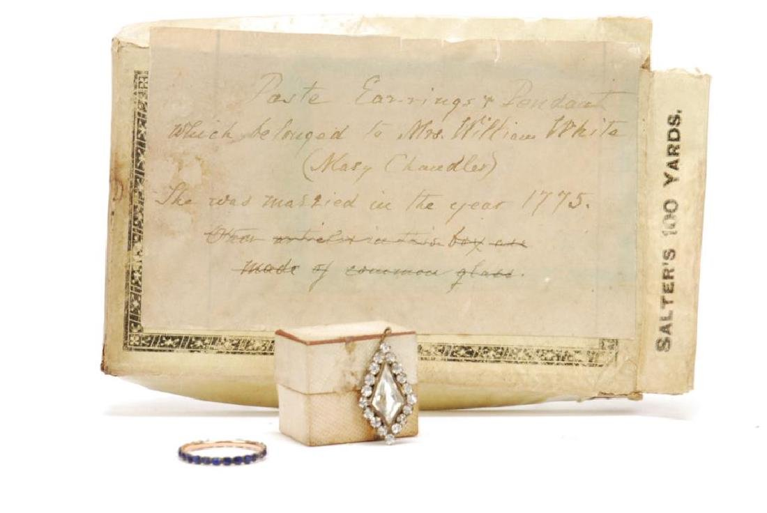 (18th) CENTURY EARRINGS, PENDENT AND RING - 4