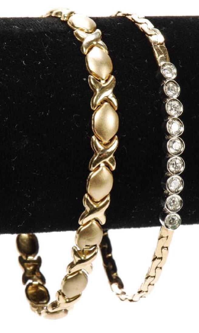 14k GOLD & DIAMOND BRACELET and a 10k BRACELET