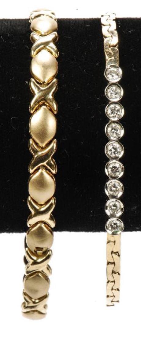 14k GOLD & DIAMOND BRACELET and a 10k BRACELET - 5