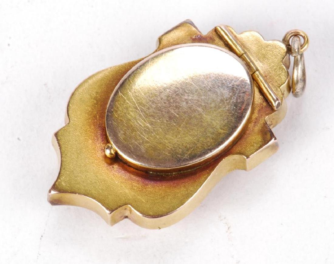 VICTORIAN GOLD FILLED LOCKET PENDENT - 4