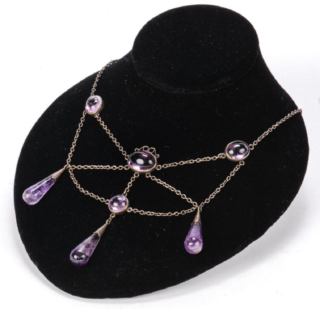 AMETHYST NECKLACE AND RING - 10