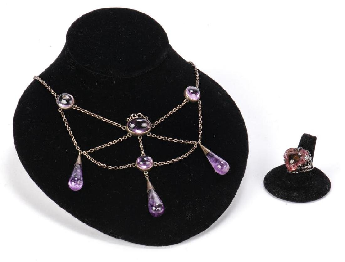 AMETHYST NECKLACE AND RING
