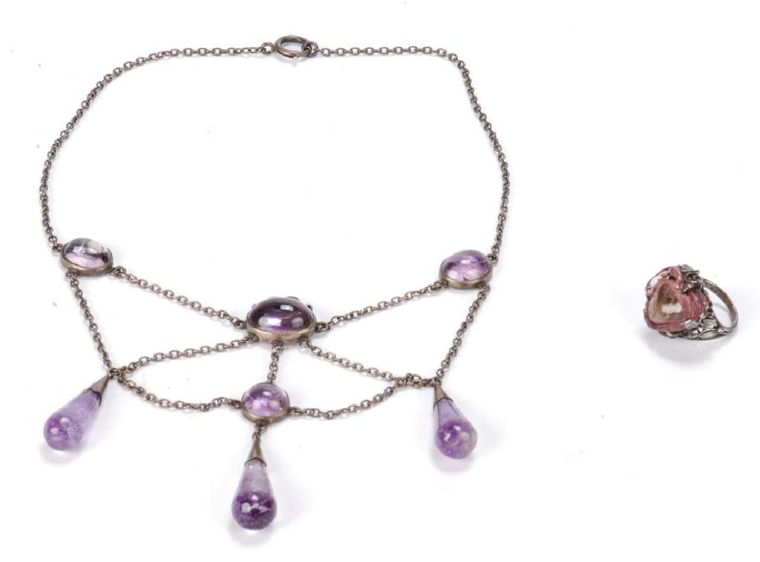 AMETHYST NECKLACE AND RING - 2