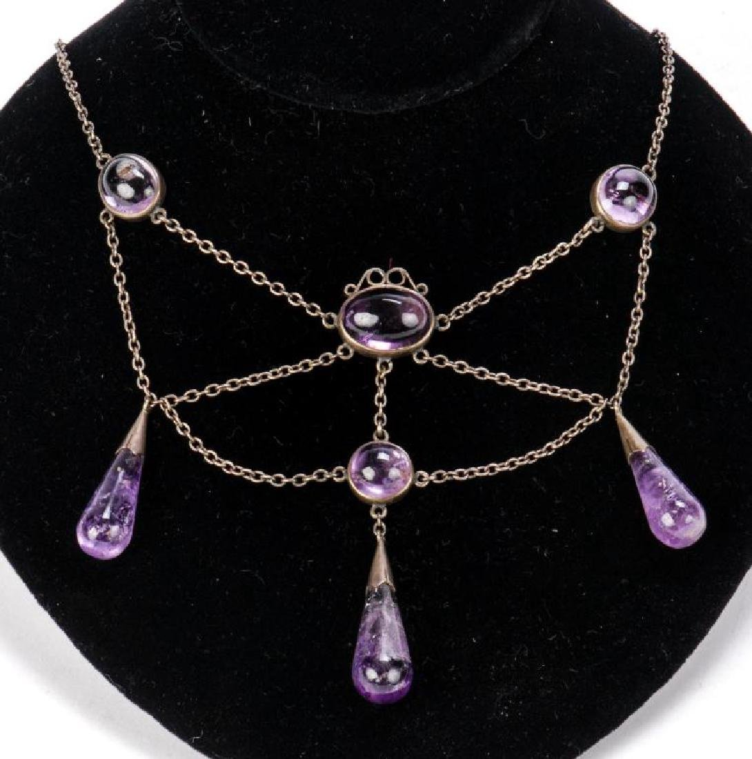 AMETHYST NECKLACE AND RING - 4