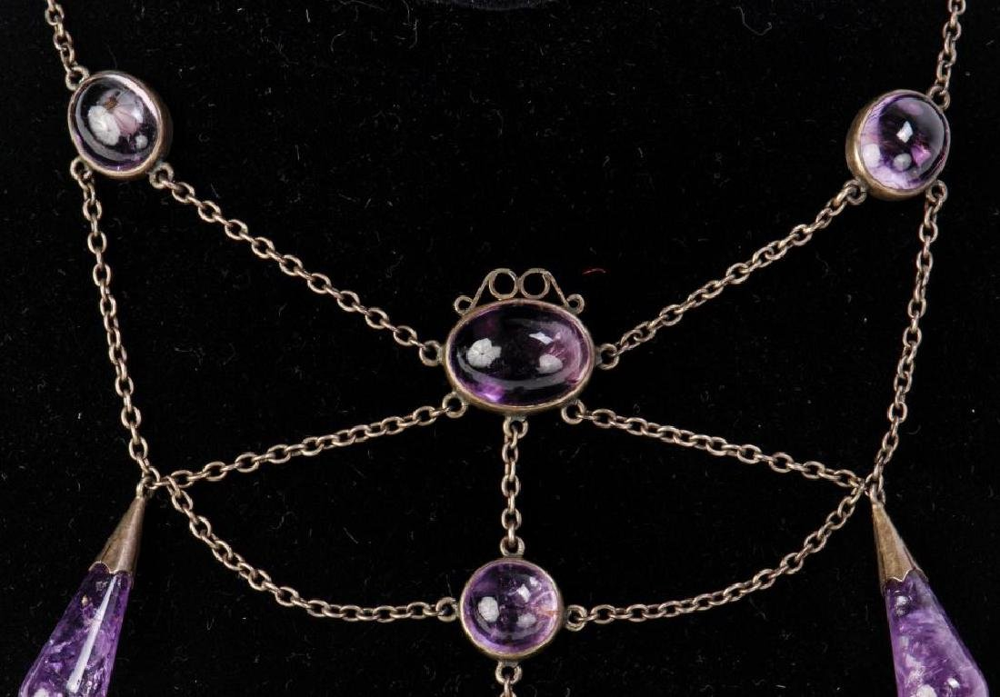 AMETHYST NECKLACE AND RING - 5