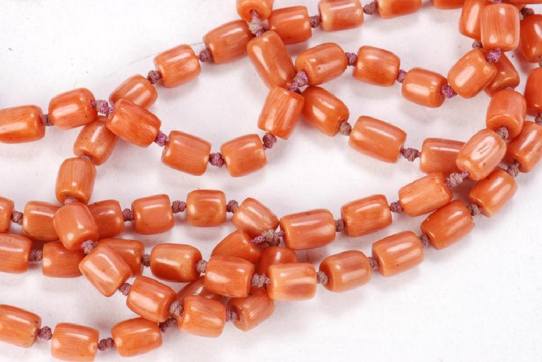 LOT OF MISC JEWELRY INCLUDING AMBER, CORAL ETC - 12