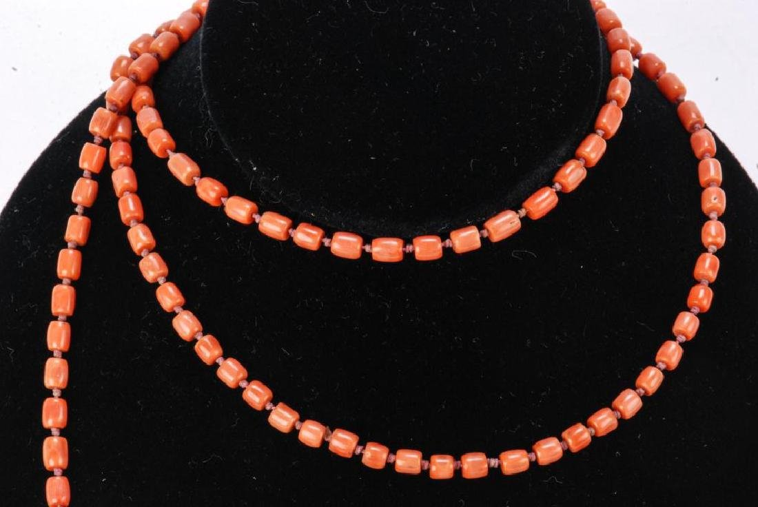 LOT OF MISC JEWELRY INCLUDING AMBER, CORAL ETC - 2