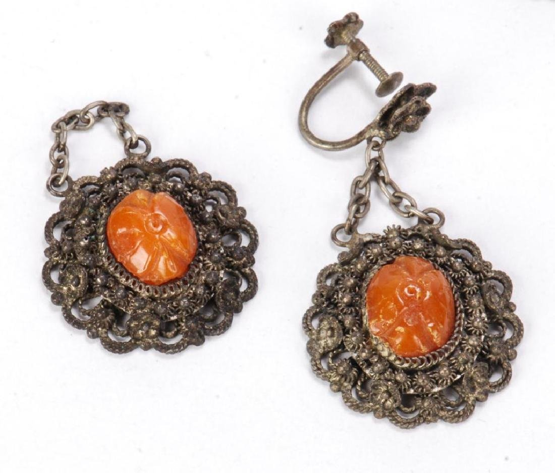LOT OF MISC JEWELRY INCLUDING AMBER, CORAL ETC - 8