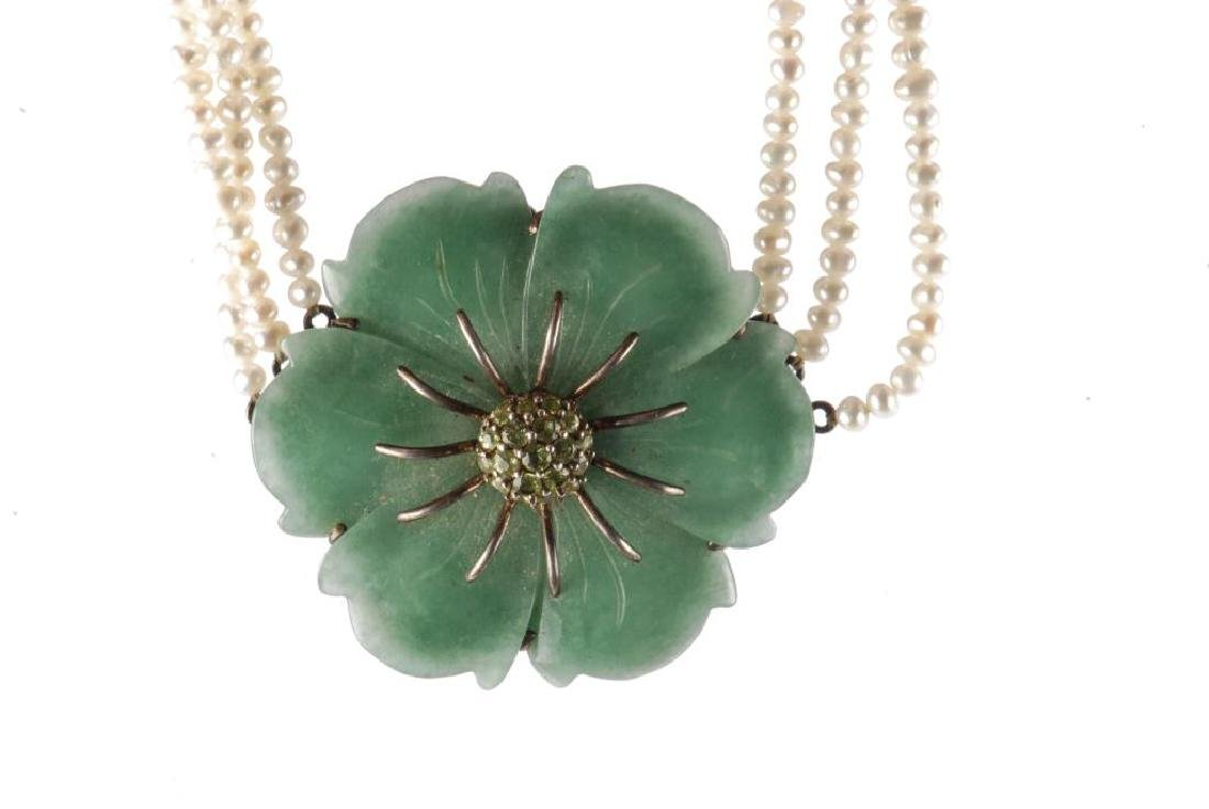 PEARL AND JADE NECKLACE - 4