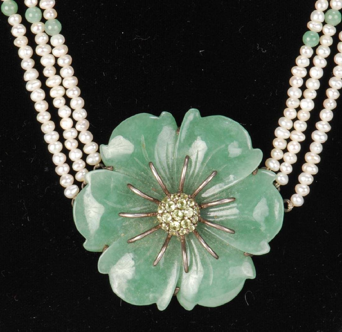 PEARL AND JADE NECKLACE - 5