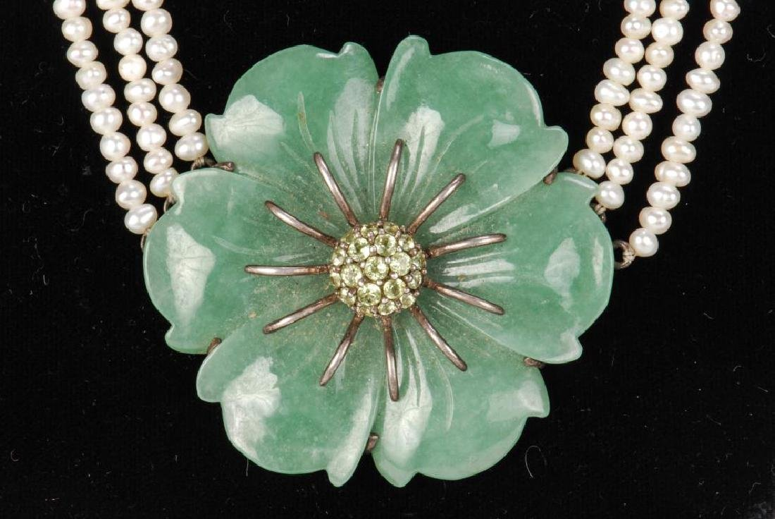PEARL AND JADE NECKLACE - 6