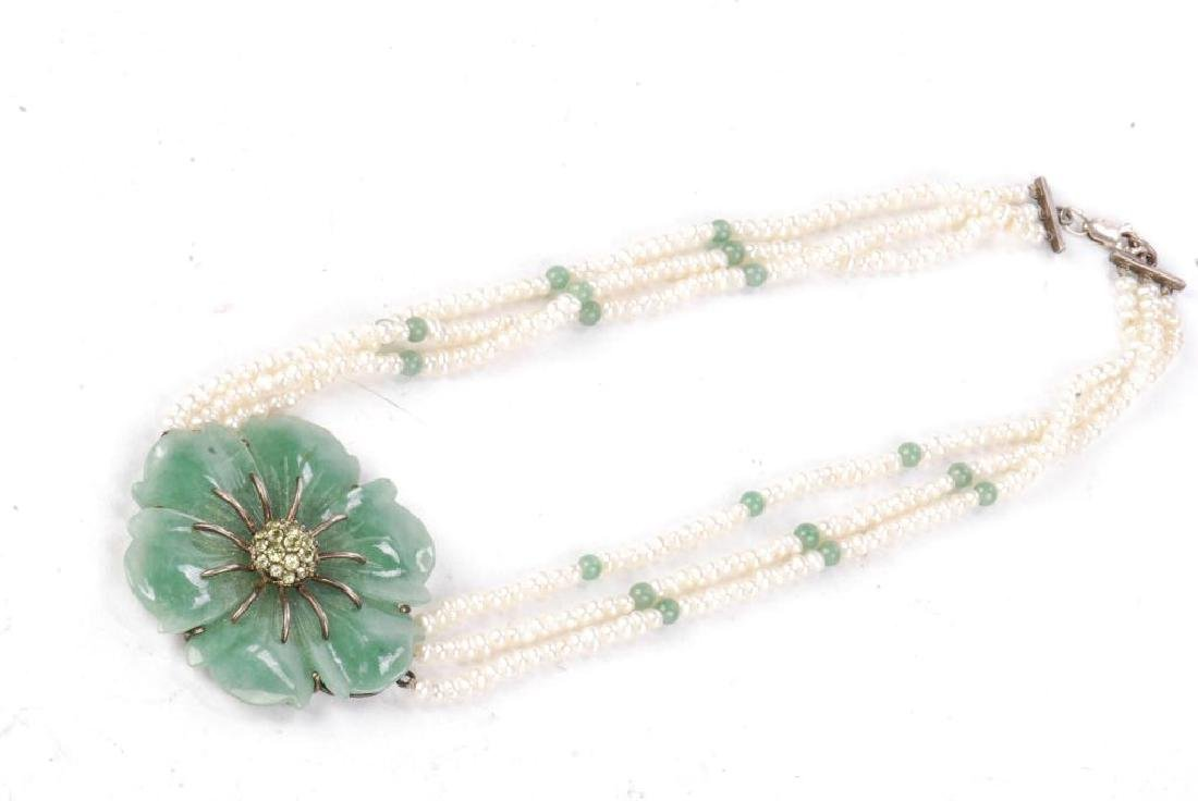 PEARL AND JADE NECKLACE - 7