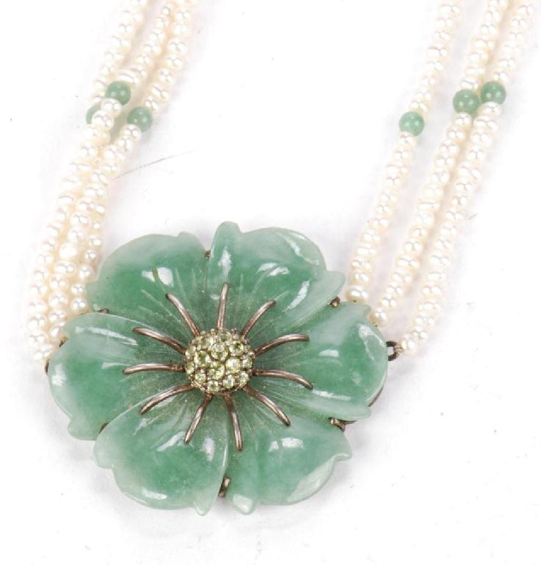 PEARL AND JADE NECKLACE - 8