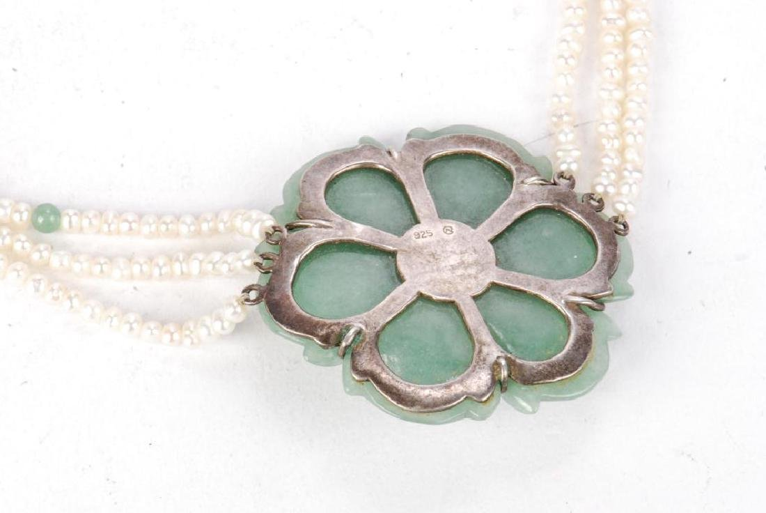 PEARL AND JADE NECKLACE - 9