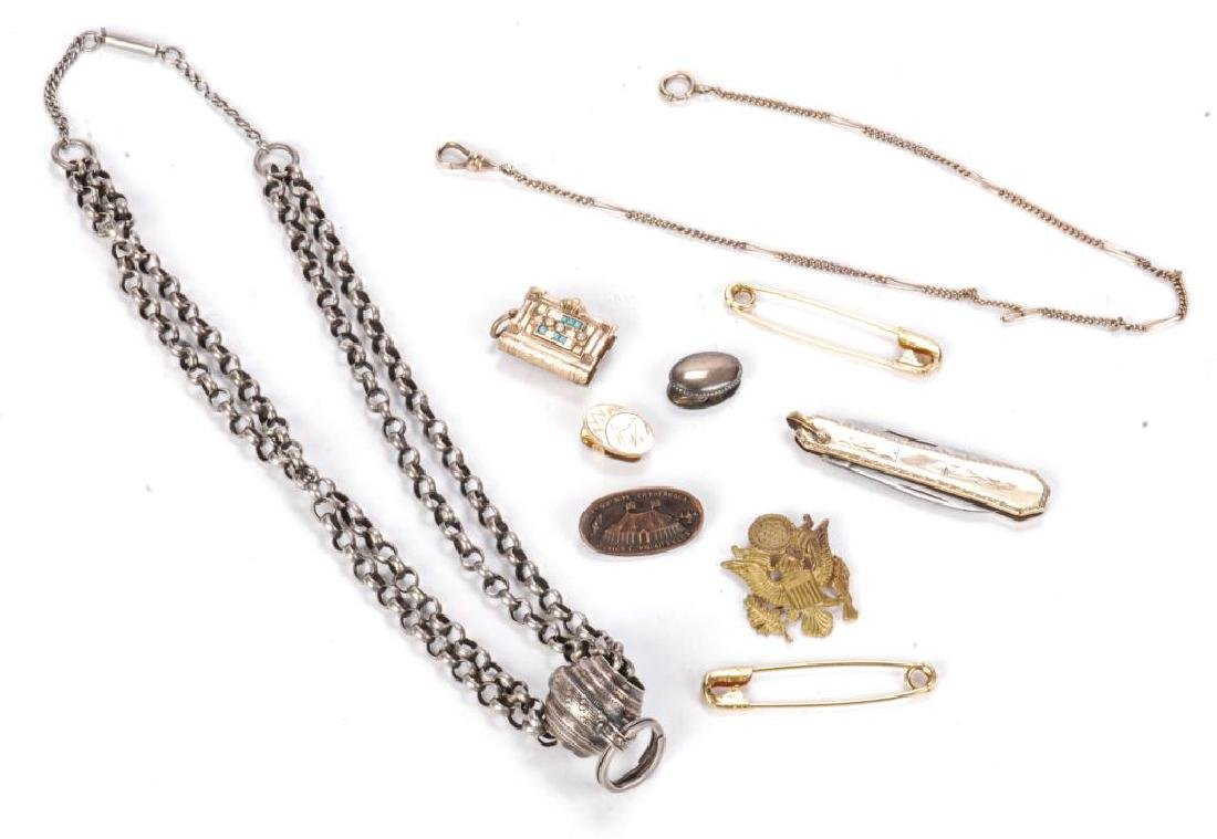 LOT OF JEWELRY AND OTHER KEEPSAKES - 3