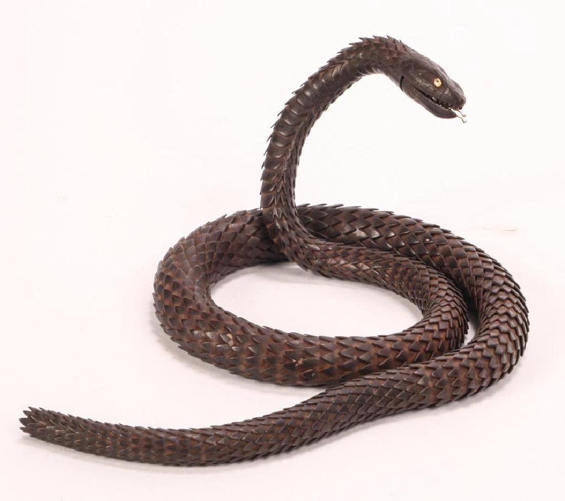 (19thc) JAPANESE ARTICULATED MYOCHIN SCHOOL SNAKE