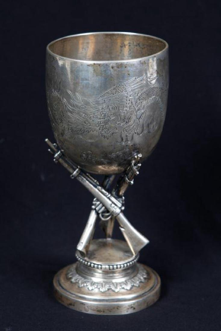 CHINESE EXPORT SILVER FIGURAL PRESENTATION CUP