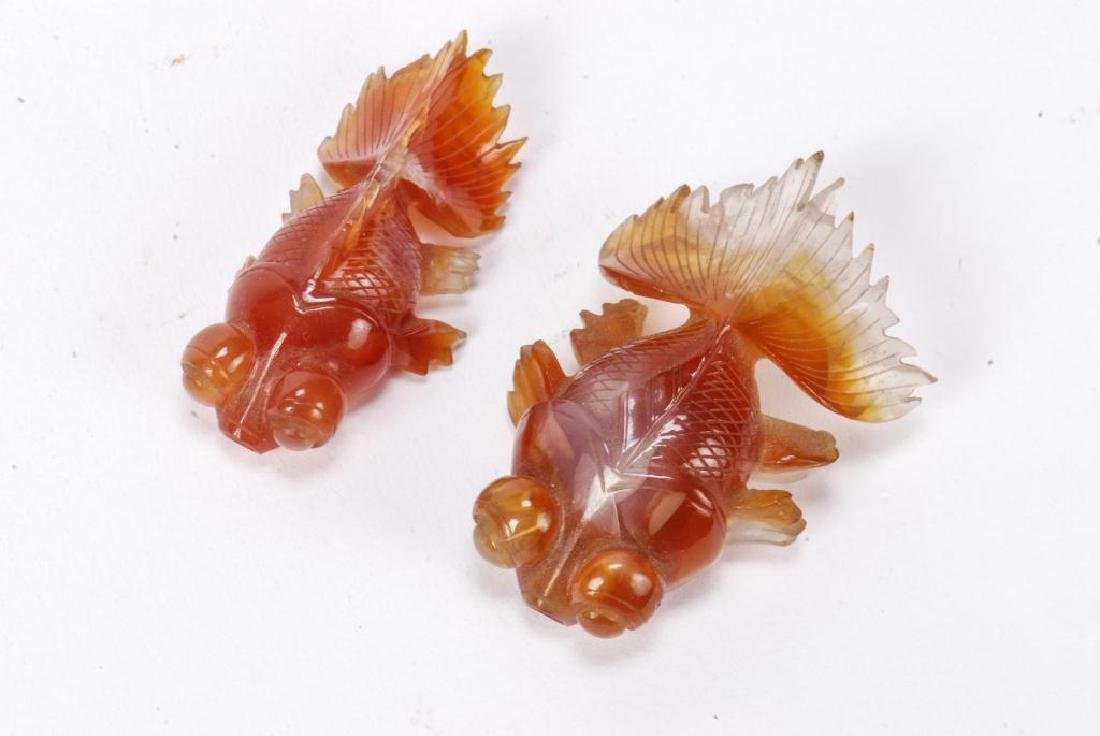 GROUP OF (6) ASIAN CARVED HARDSTONE FISH - 2