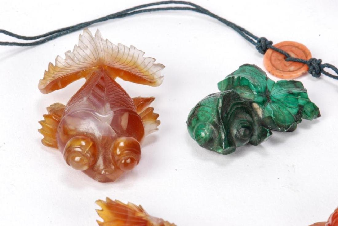 GROUP OF (6) ASIAN CARVED HARDSTONE FISH - 4