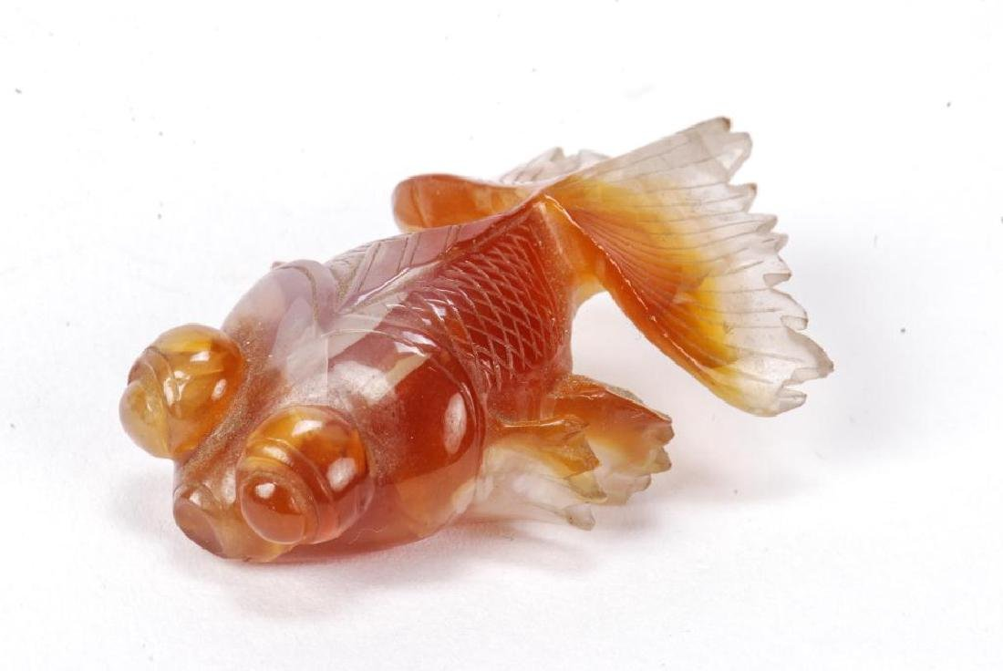 GROUP OF (6) ASIAN CARVED HARDSTONE FISH - 8