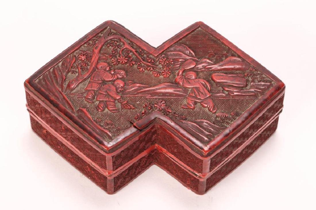 (19th c) CHINESE CINNABAR BOX