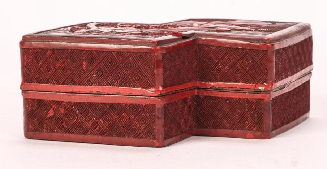(19th c) CHINESE CINNABAR BOX - 6