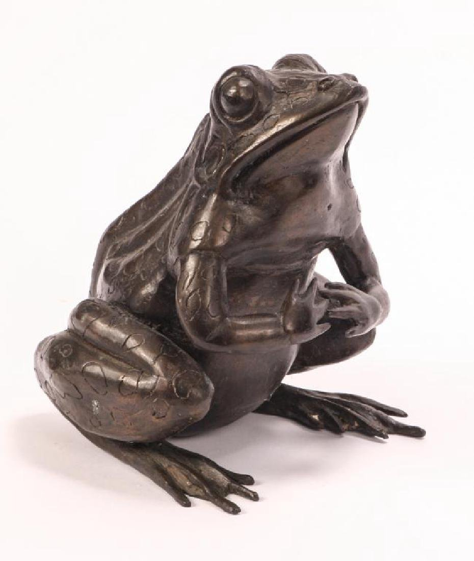 BRONZE FROG SCUPTURE (POSSIBLY ASIAN) - 7