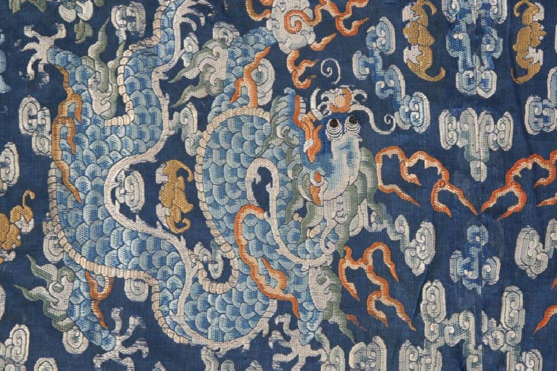 EARLY CHINESE IMPERIAL SILK PANEL - 4