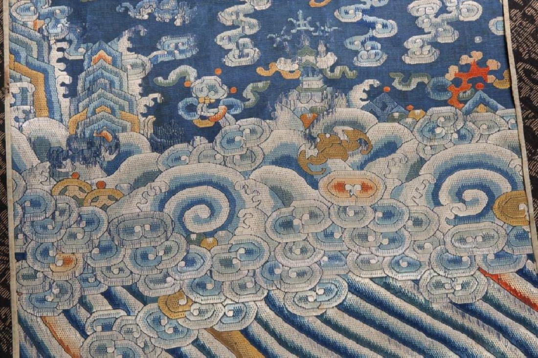EARLY CHINESE IMPERIAL SILK PANEL - 5
