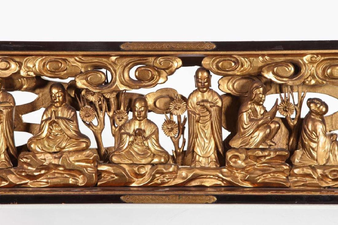 (19th c) CARVED AND GILT CHINESE CARVING - 12