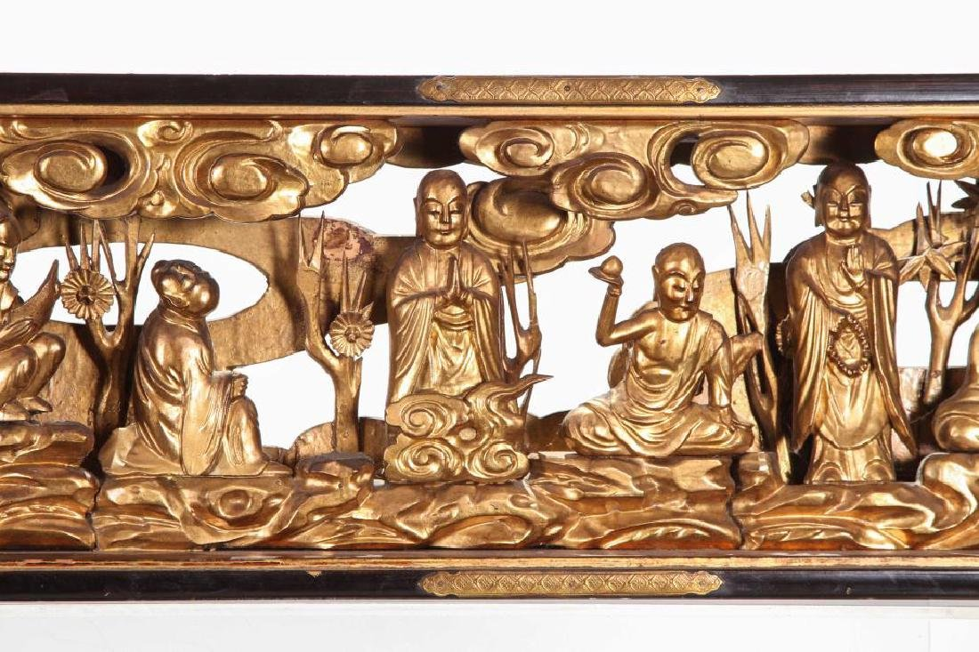 (19th c) CARVED AND GILT CHINESE CARVING - 13