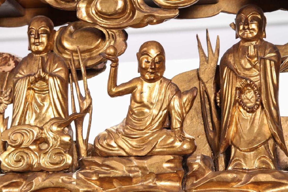 (19th c) CARVED AND GILT CHINESE CARVING - 3