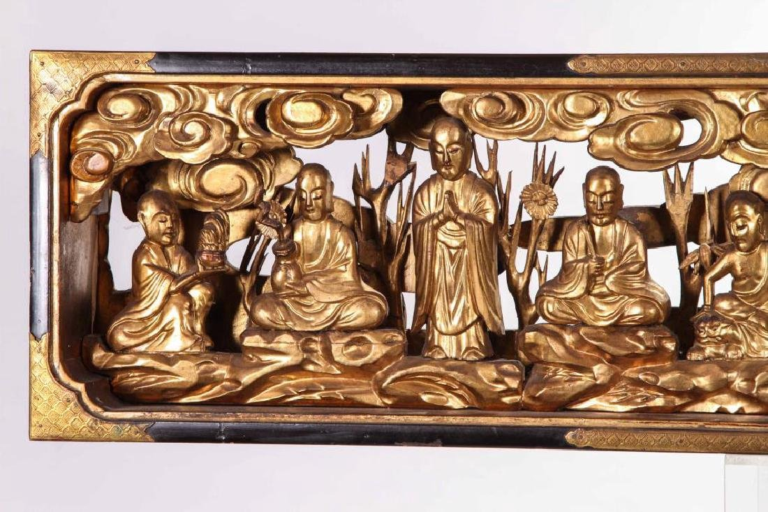 (19th c) CARVED AND GILT CHINESE CARVING - 4