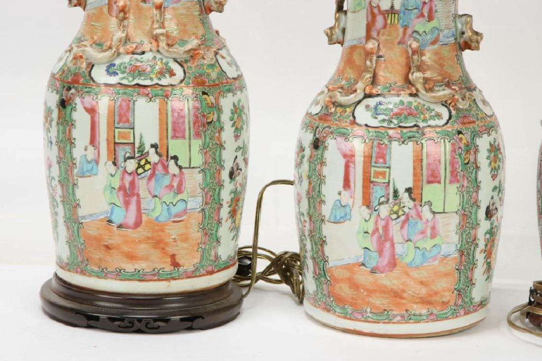 (4) ASIAN PORCELAIN TABLE LAMP BASES - 3