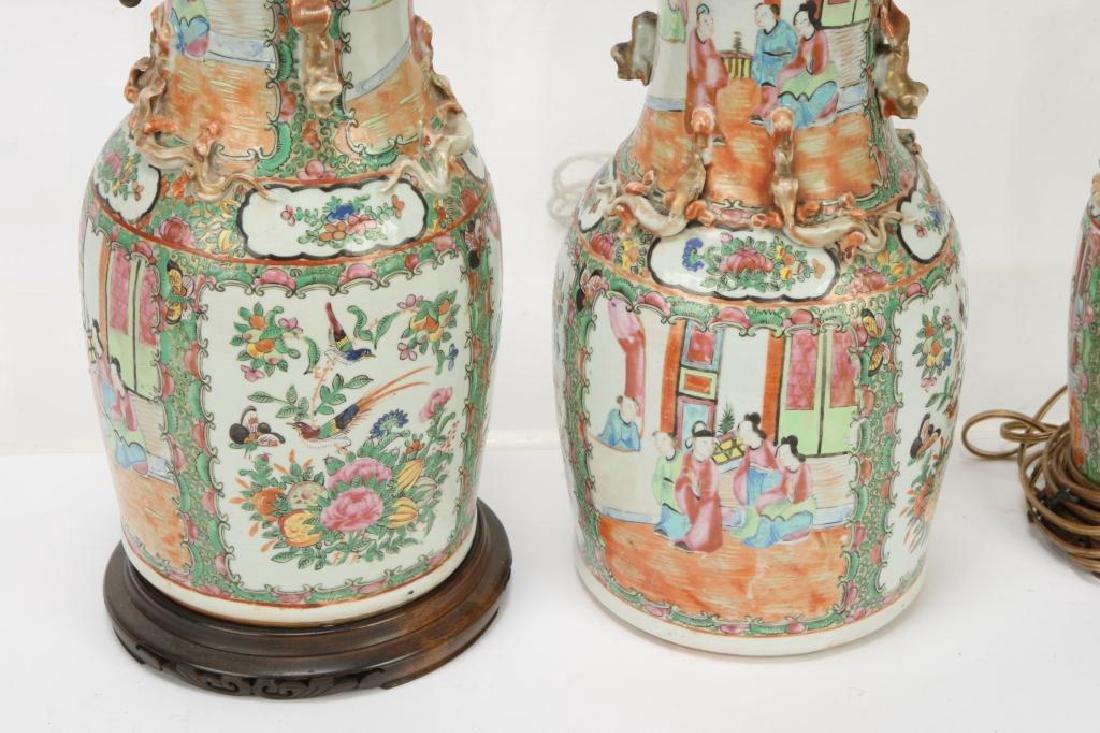 (4) ASIAN PORCELAIN TABLE LAMP BASES - 5